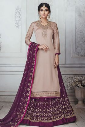 Light Mauve Color Indo Western Dress