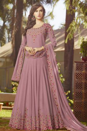 Light Purple Georgette Anarkali Salwar Kameez