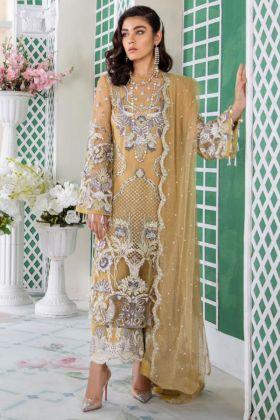 Light Yellow Color Net Pakistani Salwar Suit