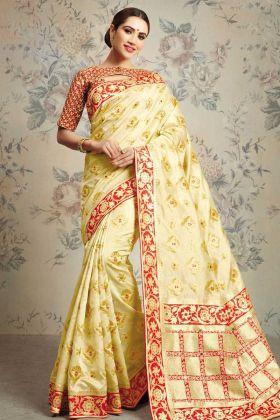Light Yellow Wedding Saree