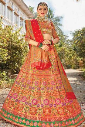 Make Special Wedding In Silk Bridal Multi Color Bridal Lehenga Choli
