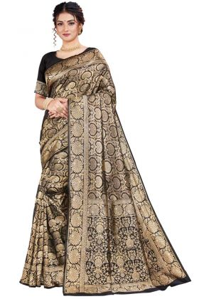 Marvellous Black Color Art Silk Party Wear Saree