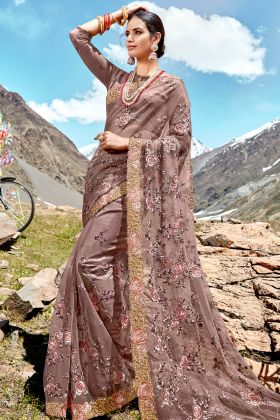 Mauve Heavy Wedding Saree