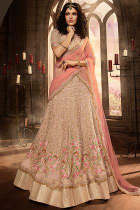 Mauve Pink Color Lehenga Choli With Heavy Embroidery Stone Work
