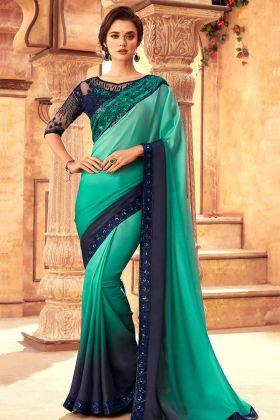 Milano Silk Wedding Saree Design Multicolor