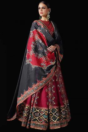 Mind Blowing Pure Killer Silk Maroon Color Party Wear Lehenga Choli