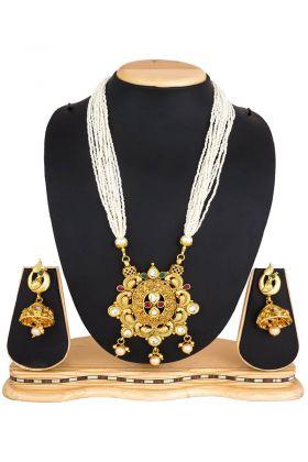 Mix Metal Golden Necklace Set