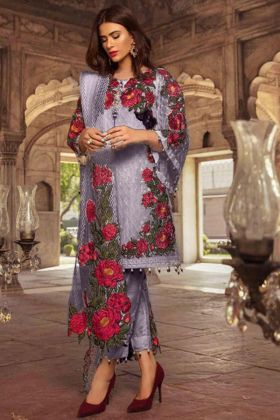 Most Popular Faux Georgette Light Purple Pakistani Style Suit