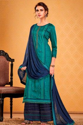 Mostly Liked Blue Embropidery Work Party Wear Salwar Suit