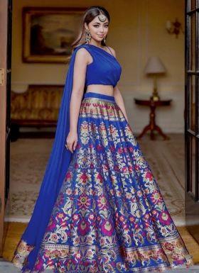 Multi Color Digital Printed Wedding Wear Lehenga Choli