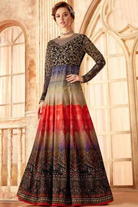 Multi Color Anarkali Salwar Suit