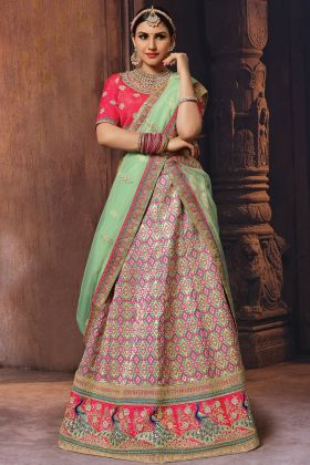 Multi Color Banarasi Lehenga Choli