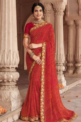 Multi Color Bandhani Saree Online