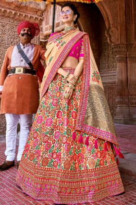 Multi Color Silk Designer Lehenga Choli