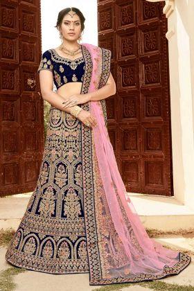 Navy Blue Bridal Lehenga Choli Online