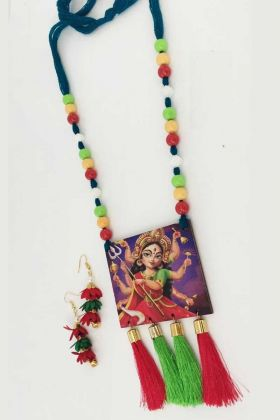 Necklace Set Jewellery With Earrings Set For Navratri