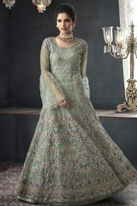 Net Party Wear Gown Style Anarkali Suit