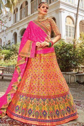New Launch Designer Bridal Silk Lehenga Choli In Multi Color