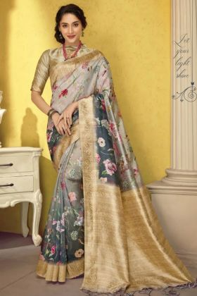 New Saree Collection In Art Silk Multi Color For Pooja