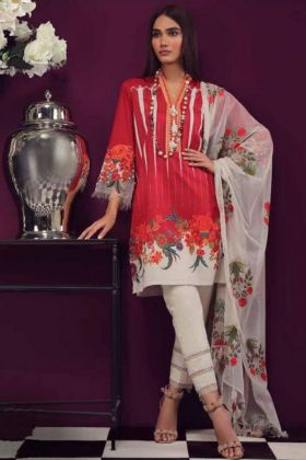New Arrival Red Pakistani Salwar Kameez