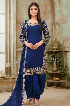 New Arrival Royal Blue Punjabi Salwar Kameez