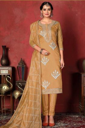 Occur Yellow Modal Cotton Straight New Suit Design