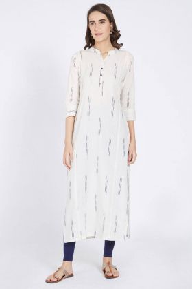 Off White Color Cotton Kurti