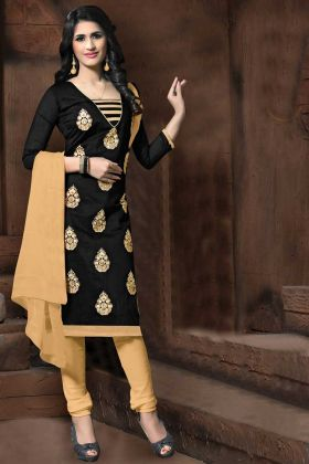 Office Wear Black Thread Embroidery Straight Suit
