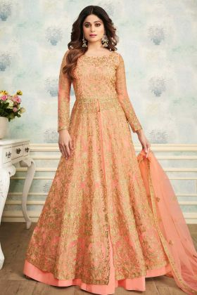 Orange Color indo Western Suit