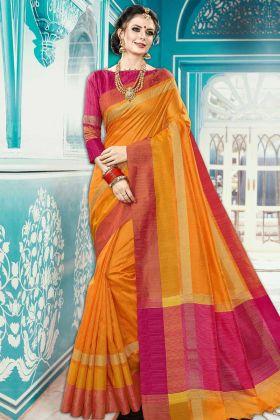 Orange Color Special Wedding Saree