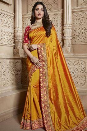 Orange Silk Saree Online