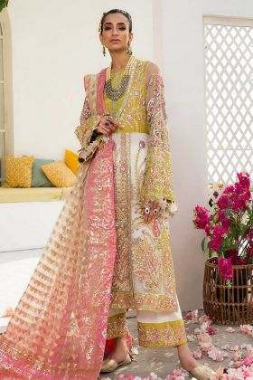Organza Party Wear Pakistani Salwar Suit Multi Color With Embroidery Work