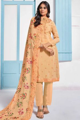 Party Collection Light Orange Chinon Salwar Suit
