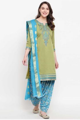 Party Wear Designer Banglori Silk Pista Punjabi Dress