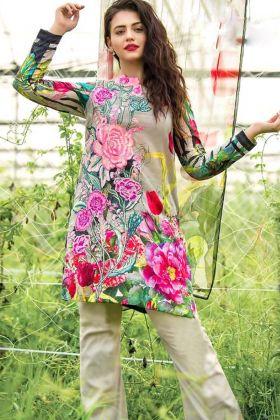 Partywear Pure Cotton Multicolor Pakistani Style Suit