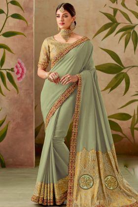 Pastel Green Silk Saree Online