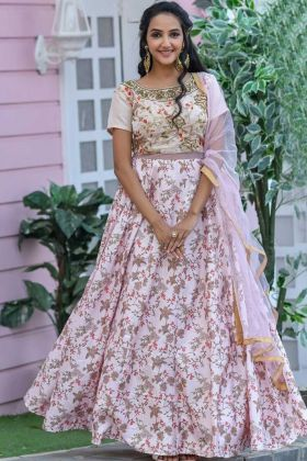 Pin On Buy Designer Chennai Silk Flamingo Pink Gown