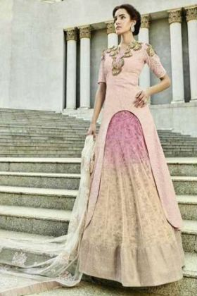 Pink Color Bridal Lehenga Dress For Reception
