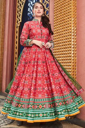 Pink Color Heavy Pure Killer Silk Anarkali Salwar Suit With Hand Work