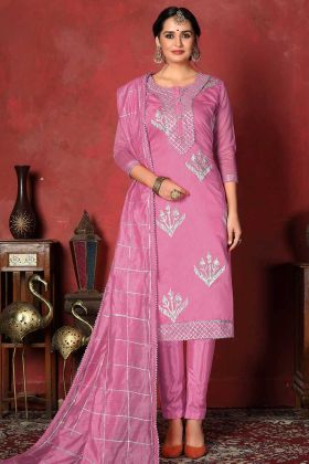 Pink Color Modal Cotton Ladies Suit Design