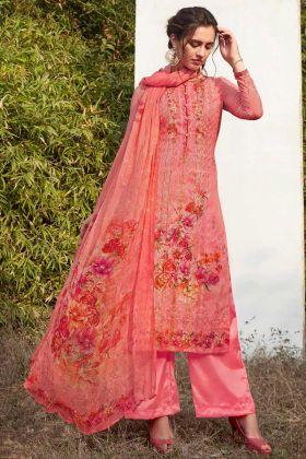 Pink Color Salwar Kameez In Georgette Fabric