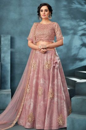 Pink Designer Lehenga Choli Value Addition Fabric And Net