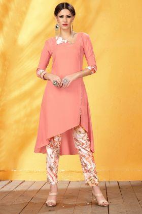 Pink Digital Printed Rayon Kurti