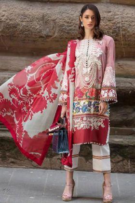 Pink Pure Cotton Pakistani Dress