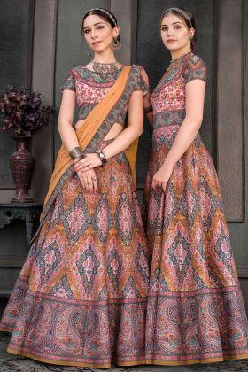 Pink Pure Heritage Silk Lehenga Suit