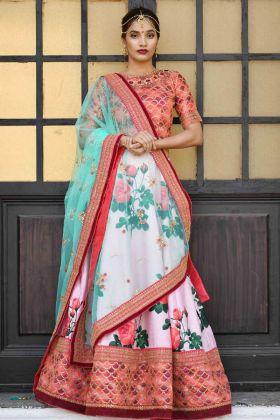 Pink Silk Bridal Lehenga Choli