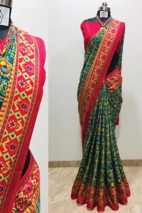 Printed Silk Multi Color Beautiful Saree At 2020-21