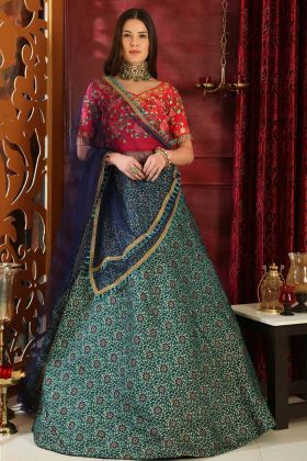Printed Lehenga Choli Jacquard Multi Color