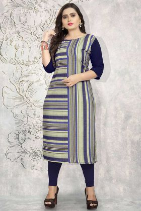 Printed Work Multi Color Crepe Designer Kurti