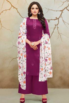 Pure Cotton Jaam Silk Palazzo Dress